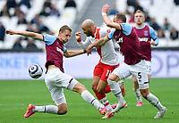 Football - 2020 / 2021 Premier League - Final Round - West ham United vs Southampton - London Stadium<br /> <br /> Southampton's Nathan Redmond battles for possession with West Ham United's Tomáš Sou?ek.<br /> <br /> COLORSPORT/ASHLEY WESTERN