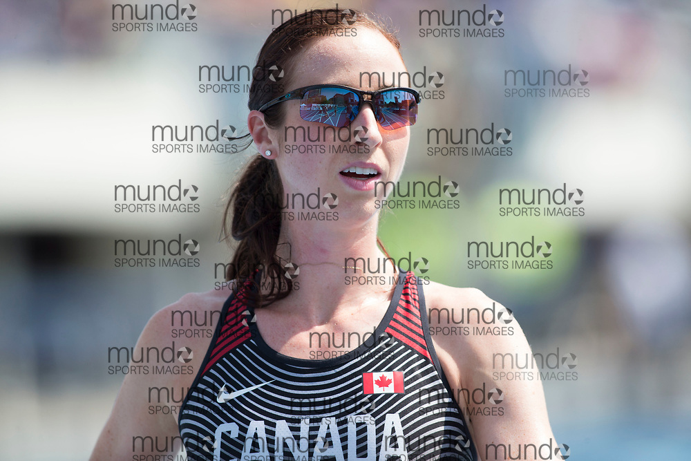 Toronto, ON -- 12 August 2018: Nicole Sifuentes (Canada), 1500m final at the 2018 North America, Central America, and Caribbean Athletics Association (NACAC) Track and Field Championships held at Varsity Stadium, Toronto, Canada. (Photo by Sean Burges / Mundo Sport Images).