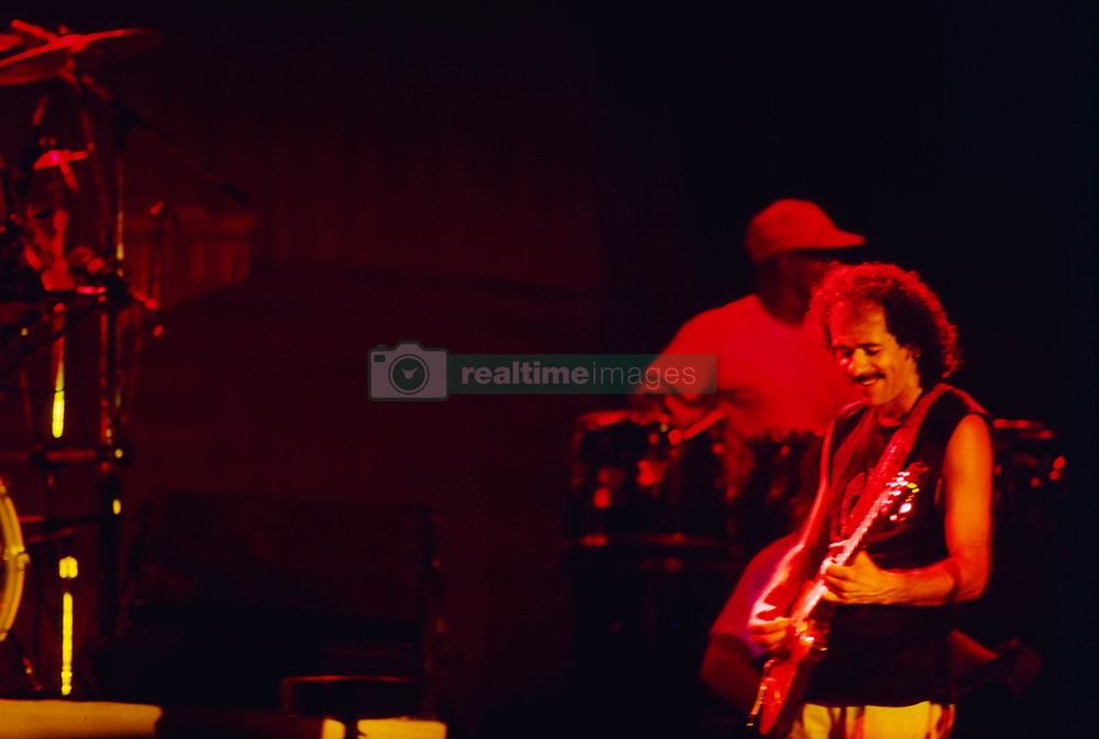 Carlos Santana 70th anniversary, one day after another great guitar player like Brian May, are on july 20, 2017. The Woodstock era image and hero cuntinue his brilliant career, expecially live, playng his original mix with mexican sound and californian rock. File images from 1978 (Montreux festival) and now. 18 Jul 2017 Pictured: Carlos Santana. Photo credit: Bruno Marzi / MEGA TheMegaAgency.com +1 888 505 6342