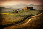The remnants of an old house in a hill in Tuscany Italy.