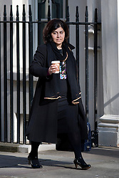 """© under license to London News Pictures. 5th August 2014 Foreign Office minister Baroness Warsi has resigned from the government, saying she can """"no longer support"""" its policy on Gaza. FILE PICTURE DATED . 23/04/2013. London, UK.    Baroness Warsi  on Downing Street in London for cabinet meeting. Photo credit: Ben Cawthra/LNP."""