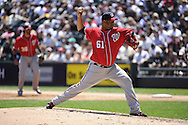 CHICAGO, IL - JUNE 26:  Livan Hernandez #61 of the Washington Nationals pitches against the Chicago White Sox on June 26, 2011 at U.S. Cellular Field in Chicago, Illinois.  The Nationals defeated the White Sox 2-1.  (Photo by Ron Vesely/MLB Photos via Getty Images)  *** Local Caption *** Livan Hernandez