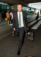 29/07/14 <br /> WARSAW - POLAND<br /> Ronny Deila arrives in Poland ahead of Celtic's Champions League qualifier against Legia Warsaw.
