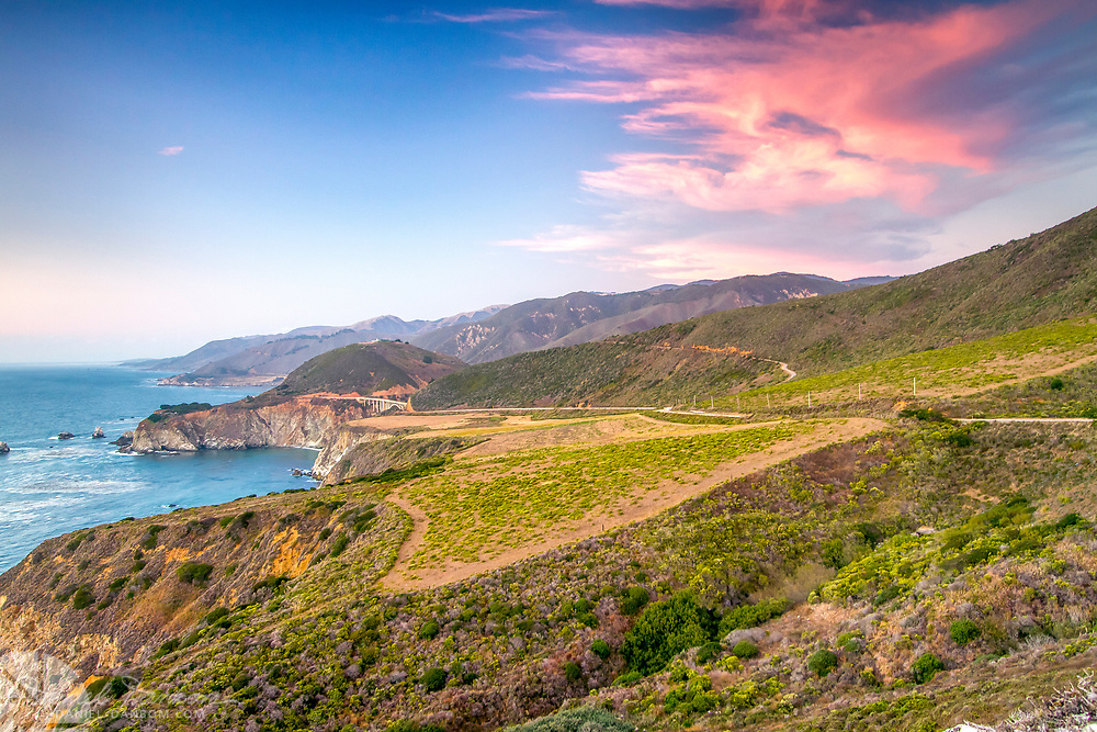 View from Hurricane Point, Big Sur Coast, Highway 1, California