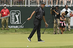 June 22, 2018 - Cromwell, CT, USA - Bubba Watson tries to coax his putt in for a birdie on the 8th hole during the second round of the Travelers Championship at TPC River Highlands in Cromwell, Conn., on Friday, June 22, 2018. (Credit Image: © John Woike/TNS via ZUMA Wire)