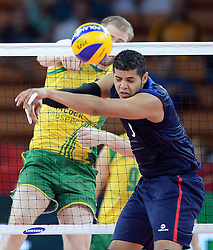 07.09.2014, Jahrhunderthalle, Breslau, POL, FIVB WM, Australien vs Venezuela, Gruppe A, im Bild JOSE CHEMA CARRASCO // JOSE CHEMA CARRASCO // during the FIVB Volleyball Men's World Championships Pool A Match beween Australia and Venezuela at the Jahrhunderthalle in Breslau, Poland on 2014/09/07.<br /> <br /> ***NETHERLANDS ONLY***