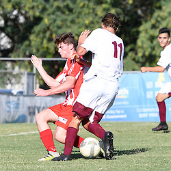 BRISBANE, AUSTRALIA - FEBRUARY 25:  during the NPL Queensland Under 18 Boys Round 1 match between Olympic FC and Brisbane Roar U18 at Goodwin Park on February 25, 2017 in Brisbane, Australia. (Photo by Patrick Kearney/Olympic FC)