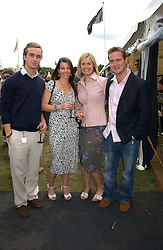 Left to right, TOM RUTHERFORD, NAOMI FRANKS,  KATE RUTHERFORD and HARRY RUTHERFORD at the Kuoni World Class Polo Day at Hurtwood Park Polo Club, Surrey on 28th May 2006.<br /><br />NON EXCLUSIVE - WORLD RIGHTS