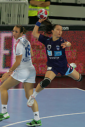Hrnjic Manuela of Slovenia during handball match between National teams of Slovenia and France of 2011 Women's World Championship Play-off, on June 12, 2011 in Arena Stozice, Ljubljana, Slovenia. (Photo By Urban Urbanc / Sportida.com)