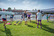 Henley on Thames, England, United Kingdom, 28th June 2019, Henley Royal Regatta Qualifiers, time trial, on Henley Reach, [© Peter SPURRIER/Intersport Image]<br /> <br /> 14:21:28
