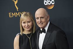 September 18, 2016 - Los Angeles, California, U.S. - JEFFREY TAMBOR and wife KASIA OSTLUN arrive for the 68th Annual Primetime Emmy Awards, held at the Nokia Theatre. (Credit Image: © Kevin Sullivan via ZUMA Wire)