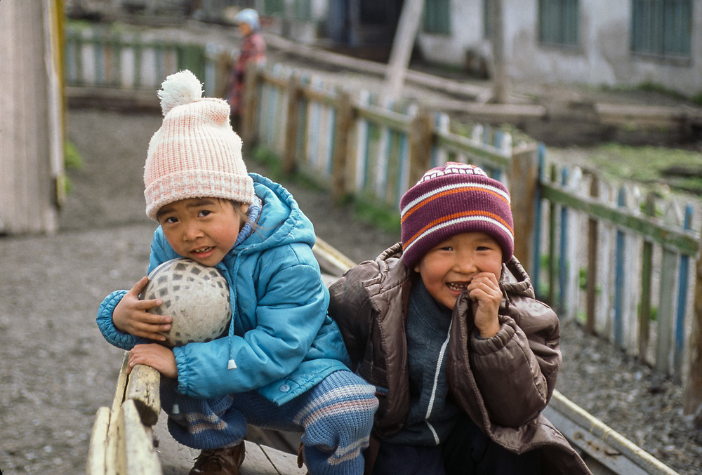 Young children, Village of Uelen, Chukotsk Peninsula, Russia1992