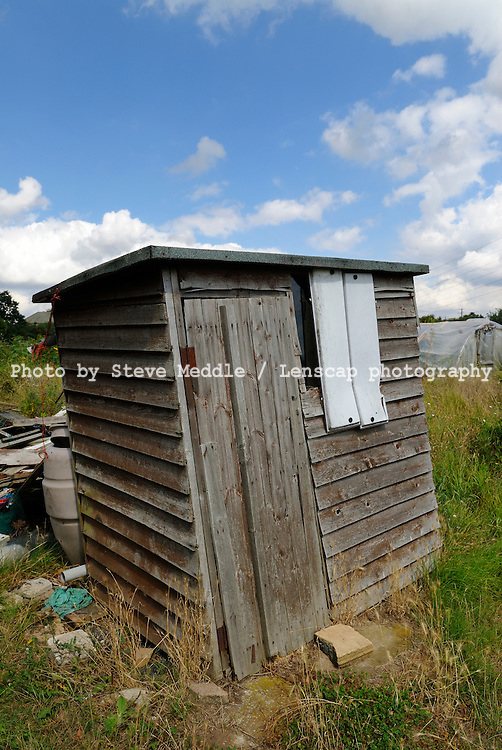 Old Shed on Allotment Plot - August 2009