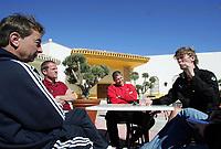 Fotball<br /> La Manga 2006<br /> 18.02.2006<br /> Foto: Morten Olsen, Digitalsport<br /> <br /> L-R: Tom Prahl / Viking - Arne Sandstø / Odd - Mons Ivar Mjelde / Brann - Ivar Morten Normark / Tromsø
