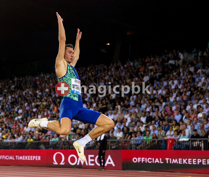 Thobias MONTLER of Sweden competes in the Men's Long Jump during the Iaaf Diamond League meeting (Weltklasse Zuerich) at the Letzigrund Stadium in Zurich, Switzerland, Thursday, Aug. 29, 2019. (Photo by Patrick B. Kraemer / MAGICPBK)