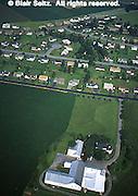 Lancaster Co. aerial photographs, suburban housing and farm, Aerial Photograph Pennsylvania
