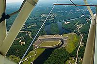 Aerial view of the Franklin Dam, New Hampshire.  Karen Bobotas Photographer