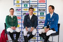Philippaerts Nicola (BEL)<br /> Winner of the Grand Prix of Lummen<br /> Second Bernardo Alves (BRA) and third placed Neriske Prinsloo (RSA)<br /> CSIO Lummen 2013<br /> © Dirk Caremans