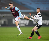 Football - 2020 /2021Premier League - West Ham United vs Fulham - The London Stadium<br /> <br /> West Ham United's Jarrod Bowen shoots at goal.<br /> <br /> COLORSPORT/ASHLEY WESTERN