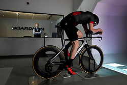 EDITORIAL USE ONLY<br /> Olympic athlete Chris Boardman, with his son George (right), attends the official opening of The Boardman Performance Centre in Evesham, Worcestershire, which opens to the public on Monday.