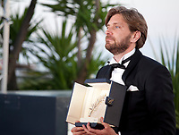 Ruben Ostland winner of the Palme d'Or for the film The Square at the Award Winner's Photocall at the 70th Cannes Film Festival Saturday 27th May 2017, Cannes, France. Photo credit: Doreen Kennedy