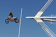 action from the press launch for the Monster Energy extreme freestylers rock 'n' ride tour at the Millennium Stadium, Cardiff. pic by Andrew Orchard, Andrew Orchard sports photography,