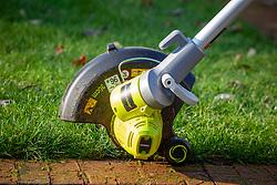 An electric grass edge trimmer