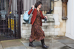 """London, UK. 25 September, 2019. Layla Moran, Liberal Democrat MP for Oxford West and Abingdon, returns to Parliament on the day after the Supreme Court ruled that the Prime Minister's decision to suspend parliament was """"unlawful, void and of no effect"""". Credit: Mark Kerrison/Alamy Live News"""