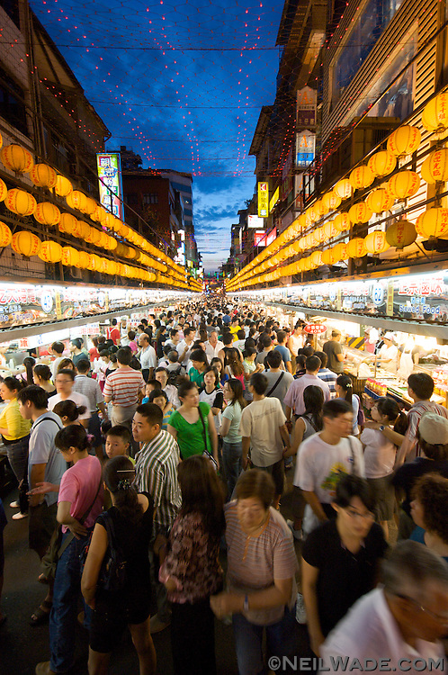 Keelung Night Market is considered one of the best in Taiwan.  Known mostly for its huge variety of snacks, this night market is also know to have visitor-friendly English menus.