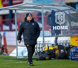 Partick Thistle's manager Ian McCall at half time.  Dundee 2 v 0 Partick Thistle, Scottish Championship game played 8/2/2020 at Dundee stadium Dens Park.