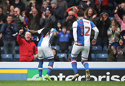 Marvin Emnes of Blackburn Rovers (L) celebrates scoring his sides first goal - Mandatory by-line: Jack Phillips/JMP - 04/03/2017 - FOOTBALL - Ewood Park - Blackburn, England - Blackburn Rovers v Wigan Athletic - Football League Championship