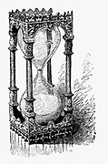 Hourglass. Engraving 1887.