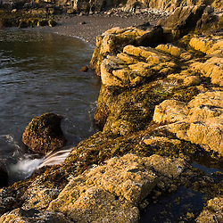The rocks at Dorrs Point in Maine USA