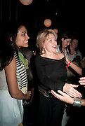 ROSARIO DAWSON; BETTE MIDLER, Party after the opening of  A Memory, A Monologue, A Rant, and A Prayer  at Century Club.  Restless Buddha's fundraising event helping women around the world. All proceeds raised from the sale of tickets go to Women for Women International, V-Day and Domestic Violence Intervention Project. 26 March 2012