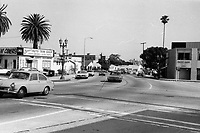 1973 Looking south on Cahuenga Blvd. from DeLongpre Ave.