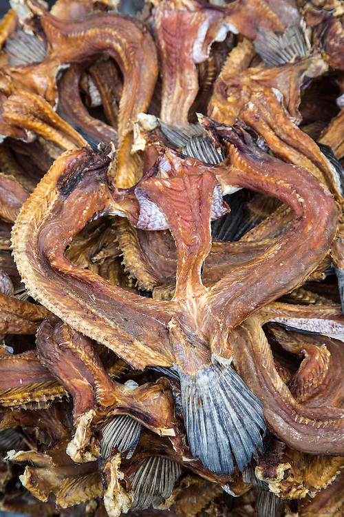 Asia, Myanmar (also known as Burma), Bagan, dried fish for sale in market