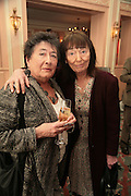 Mavis Nicolson and Beryl Bainbridge, Oldie of the Year Awards. Simpsons-in-the-Strand. London. 13 March 2007.  -DO NOT ARCHIVE-© Copyright Photograph by Dafydd Jones. 248 Clapham Rd. London SW9 0PZ. Tel 0207 820 0771. www.dafjones.com.