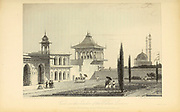 Garden Of The Palace, Lucnow [Lucknow, UttarPradesh, India] From the book ' The Oriental annual, or, Scenes in India ' by the Rev. Hobart Caunter Published by Edward Bull, London 1835 engravings from drawings by William Daniell