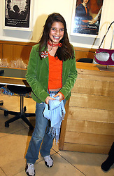 MISS ROYA SACHS daughter of Rolf Sachs at the Depal Trust 2in1 Art Party at The National Portrait Gallery, London on 25th October 2004.<br />