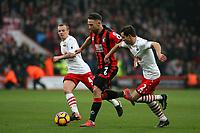 Football - 2016 / 2017 Premier League - AFC Bournemouth vs. Southampton<br /> <br /> Bournemouth's Marc Pugh bursts past Southampton's Cedric Soares at Dean Court (The Vitality Stadium) Bournemouth<br /> <br /> COLORSPORT/SHAUN BOGGUST