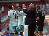 Photo: Tony Oudot. <br /> West Ham United v Manchester City. Barclays Premiership. 11/08/2007. <br /> Manchester City manager Sven Goran Eriksson applauds the fans at the end of the match