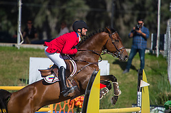 November 20, 2018 - Federal agents have seized horses belonging to Venezuelan Olympic show jumper Emanuel Andrade. Emanuel's father, Alejandro Andrade, had his Wellington, Florida, property raided and horses removed on Nov. 17. Alejandro, who pleaded guilty to conspiracy on money-laundering charges earlier this year, has been named as a co-conspirator in another federal money-laundering and bribery case. PICTURED: February 17, 2017 - Ocala, Florida, U.S. - Venezuelan equestrian EMANUEL ANDRADE  on Ricore Courcelle in the 2017 Nations Cup. (Credit Image: © Amy Katherine Dragoo via ZUMA Wire)