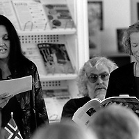Gerda Stevenson (b. 1956), Scottish actress, director and writer, with Rauni Magga Lukkari (b. 1943) Finnish-Norwegian Sámi poet and translator, photographed at the Scottish Poetry Library in Edinburgh August 18, 2000.