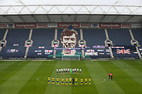 Players from both sides observe a minute's applause for the late Preston North End player Alex Dawson<br /> <br /> Photographer Alex Dodd/CameraSport<br /> <br /> The EFL Sky Bet Championship - Leeds United v Barnsley - Thursday 16th July 2020 - Elland Road - Leeds<br /> <br /> World Copyright © 2020 CameraSport. All rights reserved. 43 Linden Ave. Countesthorpe. Leicester. England. LE8 5PG - Tel: +44 (0) 116 277 4147 - admin@camerasport.com - www.camerasport.com<br /> <br /> Photographer Alex Dodd/CameraSport<br /> <br /> The EFL Sky Bet Championship - Preston North End v Birmingham City - Saturday 18th July 2020 - Deepdale Stadium - Preston<br /> <br /> World Copyright © 2020 CameraSport. All rights reserved. 43 Linden Ave. Countesthorpe. Leicester. England. LE8 5PG - Tel: +44 (0) 116 277 4147 - admin@camerasport.com - www.camerasport.com