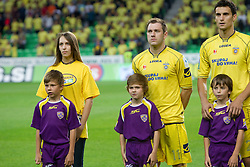 Maja Zugec, 12th player of NK Domzale, Mitja Zatkovic and Darko Zec of Domzale during football match between NK Domzale and NK Maribor in final match of Hervis Cup, on May 25, 2011 in SRC Stozice, Ljubljana, Slovenia. Domzale defeated Maribor and became Slovenian Cup Champion 2011. (Photo By Vid Ponikvar / Sportida.com)