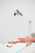 Shaun White, USA, during the Pyeongchang Winter Olympic mens snowboard halfpipe finals on 14th February 2018 at Phoenix Snow Park in South Korea