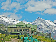 Icefields Centre on the Icefields Parkway just opposite the Athabasca Glacier.