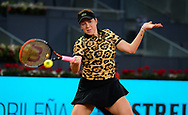 Anastasia Pavlyuchenkova of Russia in action against Aryna Sabalenka of Belarus during the semi-final of the Mutua Madrid Open 2021, Masters 1000 tennis tournament on May 6, 2021 at La Caja Magica in Madrid, Spain - Photo Oscar J Barroso / Spain ProSportsImages / DPPI / ProSportsImages / DPPI