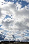 Dramatic clouds atop Cadillac Mountain, Acadia National Park, Maine.
