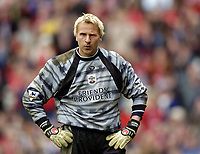 Photo. Jed Wee.<br /> Middlesbrough v Southampton, FA Barclaycard Premiership, The Riverside, Middlesbrough. 12/04/2004.<br /> Southampton goalkeeper Antti Niemi, linked this week with a move to Arsenal, sees three goals fly past him against Middlesbrough.